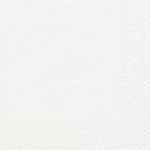 Duni Cocktail-Servietten 3lagig Tissue Uni weiß, 24 x 24 cm, 20 Stück