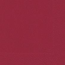 Duni Servietten 3lagig Tissue Uni bordeaux, 33 x 33 cm, 20 Stück
