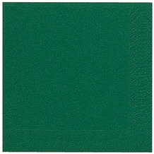Duni Dinner-Servietten 3lagig Tissue Uni dunkelgrün, 40 x 40 cm, 20 Stück