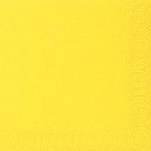 Duni Cocktail-Servietten 3lagig Tissue Uni gelb, 24 x 24 cm, 20 Stück