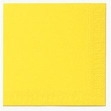 Duni Dinner-Servietten 3lagig Tissue Uni gelb, 40 x 40 cm, 20 Stück
