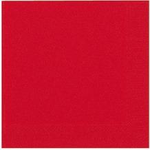 Duni Dinner-Servietten 3lagig Tissue Uni rot, 40 x 40 cm, 20 Stück