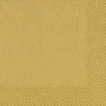 Duni Servietten 3lagig Tissue Motiv Gold, 33 x 33 cm, 20 Stück