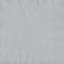 Duni Servietten 3lagig Tissue Motiv silber, 33 x 33 cm, 20 Stück