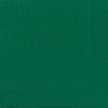 Duni Dinner-Servietten 4lagig Tissue geprägt Uni dunkelgrün, 40 x 40 cm, 50 Stück