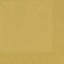 Duni Servietten, 3lagig Tissue Motiv Gold, 33 x 33 cm, 50 Stück