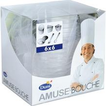 Duni Amuse Bouche - Combi Pack transparent, 36 Stück