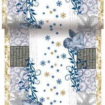 Duni Dunicel-Tischläufer 3 in 1, alle 40 cm perforiert, Motiv La Navidad, 40 cm x 4,8 m
