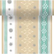 Duni Dunicel-Tischläufer 3 in 1, alle 40 cm perforiert, Motiv Winter Charme, 40 cm x 4,8 m