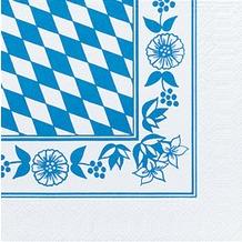Duni Servietten 3lagig Tissue Motiv Bayernraute, 33 x 33 cm, 20 Stück