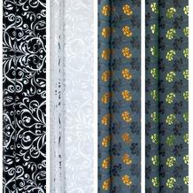 Duni Geschenkpapier auf Rolle, 4 Rollen, Top-Kollektion Brilliant Metallic, 1,5 m x 70 cm