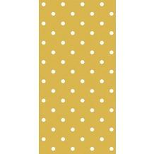 Duni Servietten 3lagig Tissue Motiv Polka Dots Gold, 33 x 33 cm, 12 Stück
