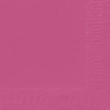 Duni Cocktail-Servietten 3lagig Tissue Uni fuchsia, 24 x 24 cm, 20 Stück