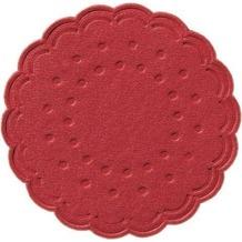 Duni Untersetzer 8lagig Tissue Uni rot, ø 7,5 cm, 250 Stück