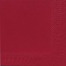 Duni Servietten 3lagig Tissue Uni bordeaux, 33 x 33 cm, 250 Stück