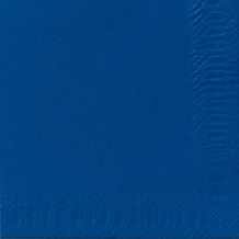 Duni Servietten 3lagig Tissue Uni dunkelblau, 33 x 33 cm, 250 Stück
