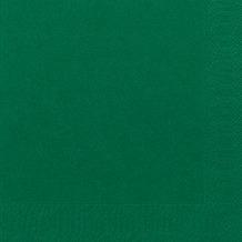 Duni Dinner-Servietten 3lagig Tissue Uni dunkelgrün, 40 x 40 cm, 250 Stück