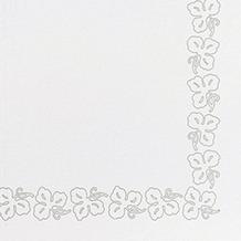 Duni Servietten aus Dunicel Weinranke weiß, 41 x 41 cm, 50 Stück