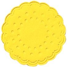 Duni Untersetzer 9lagig Tissue Uni gelb, 25 Stück