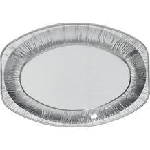 Duni Aluminium Servierplatten Oval, silber 33,3 x 23,3 x 2,5 cm 3 Stück