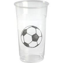 Duni Biergläser Plastik Soccer 50 cl 10 St.