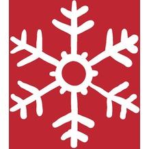 Duni Cocktail - Servietten Red Snowflakes 24 x 24 cm 20 St.