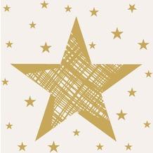 Duni Cocktail - Servietten Shining Star Cream 24 x 24 cm 20 St.