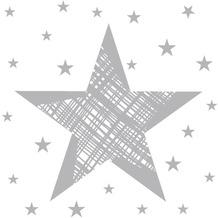 Duni Cocktail - Servietten Shining Star White 24 x 24 cm 20 St.