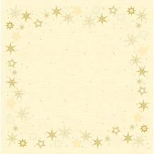 Duni Dunicel-Mitteldecken Star Stories Cream 84 x 84 cm 100 Stück