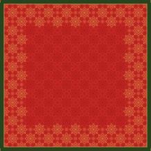 Duni Dunicel-Mitteldecken Xmas Deco Red 84 x 84 cm 100 Stück