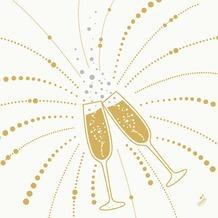 Duni Dunilin-Servietten Festive Cheers White 40 x 40 cm 1/ 4 Falz 50 Stück