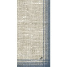 Duni Dunisoft-Servietten, Motiv Linus blue 40x20 cm 1/ 8 Buchfalz 120 St.