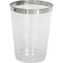 Duni Gläser transparent /  silber 30 cl 12 Stück