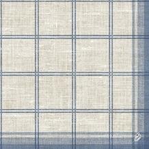 Duni Klassik-Servietten Motiv Linus Classic blue 40x40 cm 4lagig, geprägt 1/ 4 Falz 50 St.