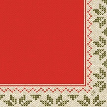 Duni Klassik-Servietten Urban Yule Red 40x40 cm 4lagig, geprägt, 1/ 4 Falz 50 Stück