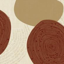 Duni Klassikservietten Earthy 40 x 40 cm 50 Stück