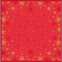 Duni Mitteldecke Shining Star Red 84 x 84 cm