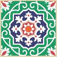 Duni Servietten 3-lagig Motiv Tile 33 x 33 cm 20 Stück