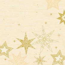 Duni Servietten Dunisoft® Star Stories Cream 40 x 40 cm 12 Stück
