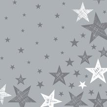 Duni Servietten Shining Star Grey 33 x 33 cm 20 St.