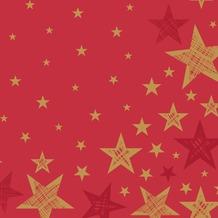 Duni Servietten Shining Star Red 33 x 33 cm 20 St.