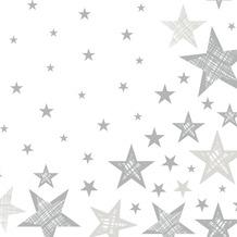 Duni Servietten Shining Star White 33 x 33 cm 20 St.