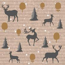 Duni Servietten Tissue Deer forest 24 x 24 cm 20 Stück