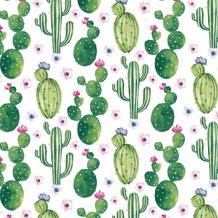 Duni Servietten Tissue Floral Cactus 33 x 33 cm 20 St.