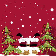 Duni Servietten Tissue Mood of Santas 33 x 33 cm 20 Stück