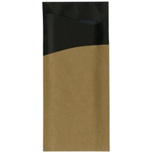 Duni Serviettentaschen Sacchetto®, Tissue, Motiv black/ brown 190 x 85mm