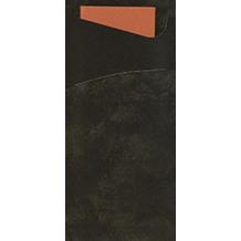 Duni Serviettentaschen Sacchetto®, Tissue, Uni schwarz 190x85mm 100 St.