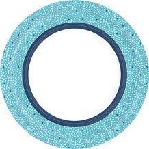 Duni Teller Pappe Rice Blue ø 22 cm 10er