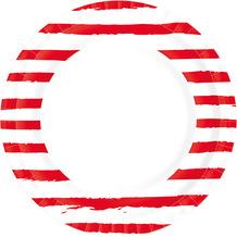 Duni Teller Pappe Sketchy Stripes ø 22 cm 10 Stück
