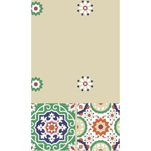 Duni Tischdecke Motiv Tile 138 x 220 cm 1 Stück